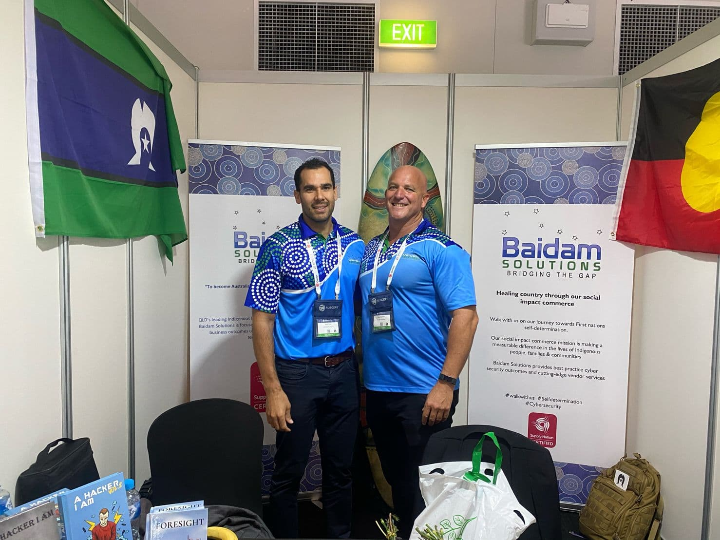 Baidam Co-Founder Jack Reis with National Indigenous Corporate Affairs Manager Nick Buenen